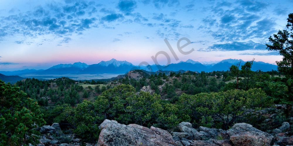Collegiate Peaks just before sunrise in Buena Vista, Colorado