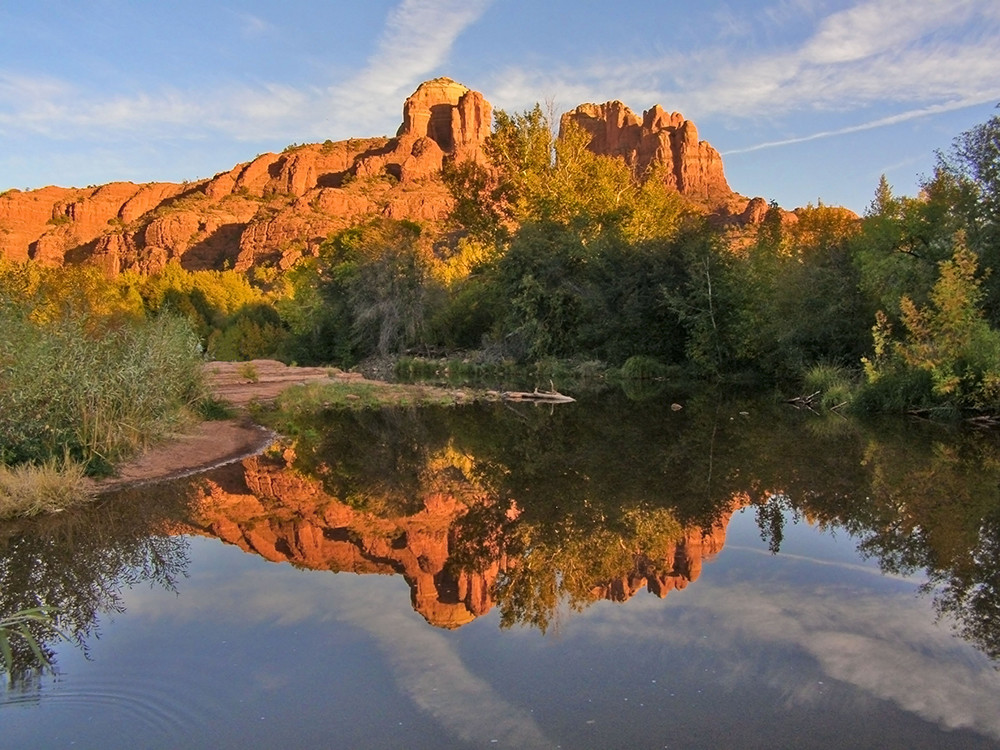 Red Rock Reflections in Oak Creek