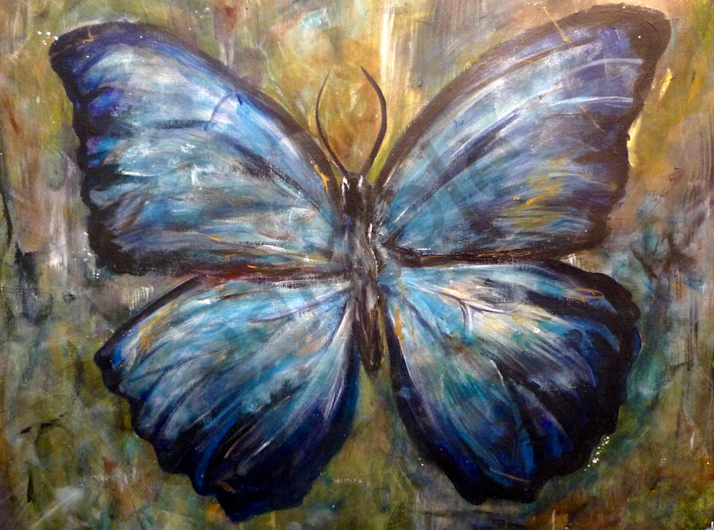 Earth Butterfly Art | Art By Dana