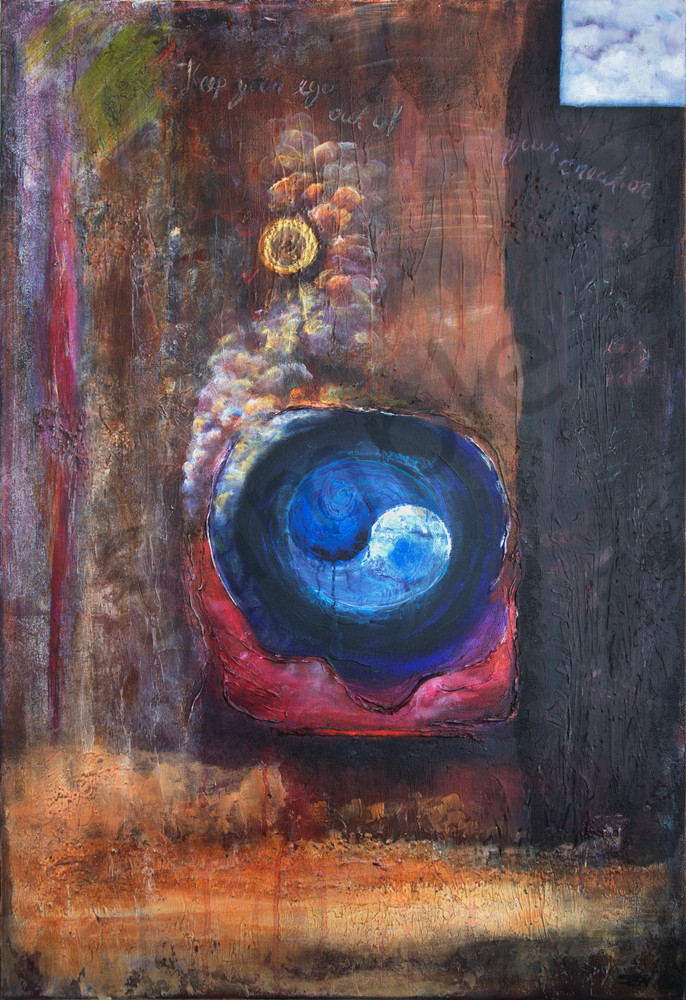 Intuition, abstract, painting, acrylic, chakras, earth-tones, Susan Kraft Art, Zippity Art, paintings,