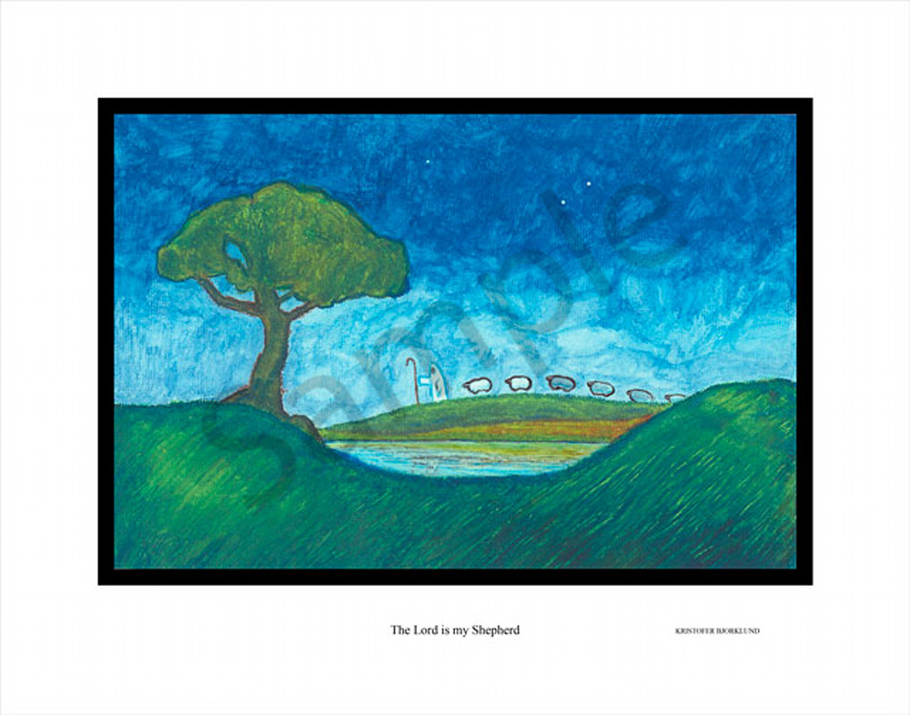 The Lord is my Shepherd fine art print by Kristofer Bjorklund.