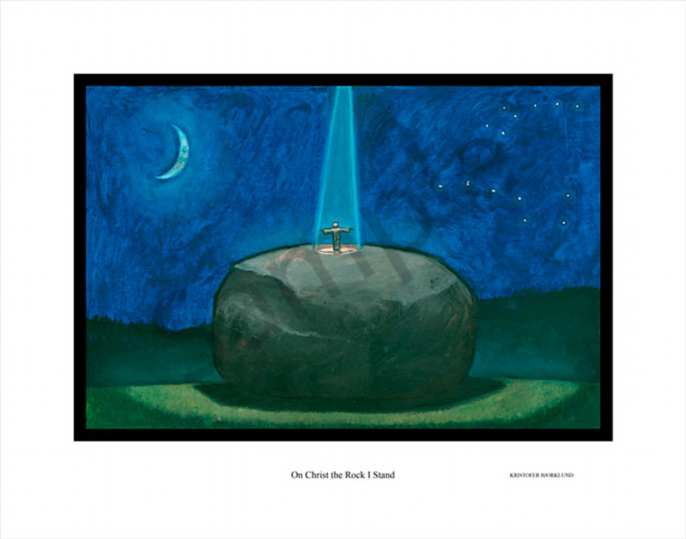 On Chirst the rock I stand fine art print by Kristofer Bjorklund.