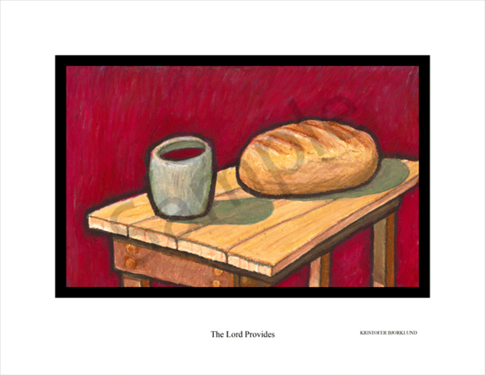 The Lord provides fine art print by Kristofer Bjorklund.