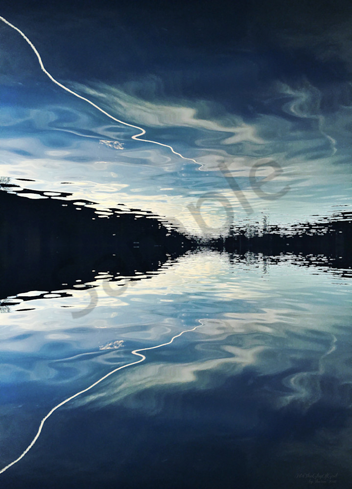 Jet Stream Reflection - digital painting photograph