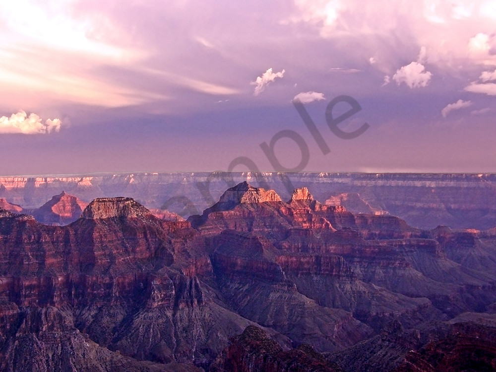 Pink Grand Canyon Scenic Sundown