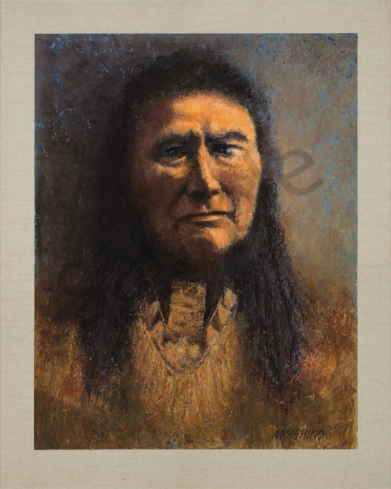 Chief Joseph, Nez Perce, Native Americans, American Indians, Portraits, Oil Paintings, Mark Kashino