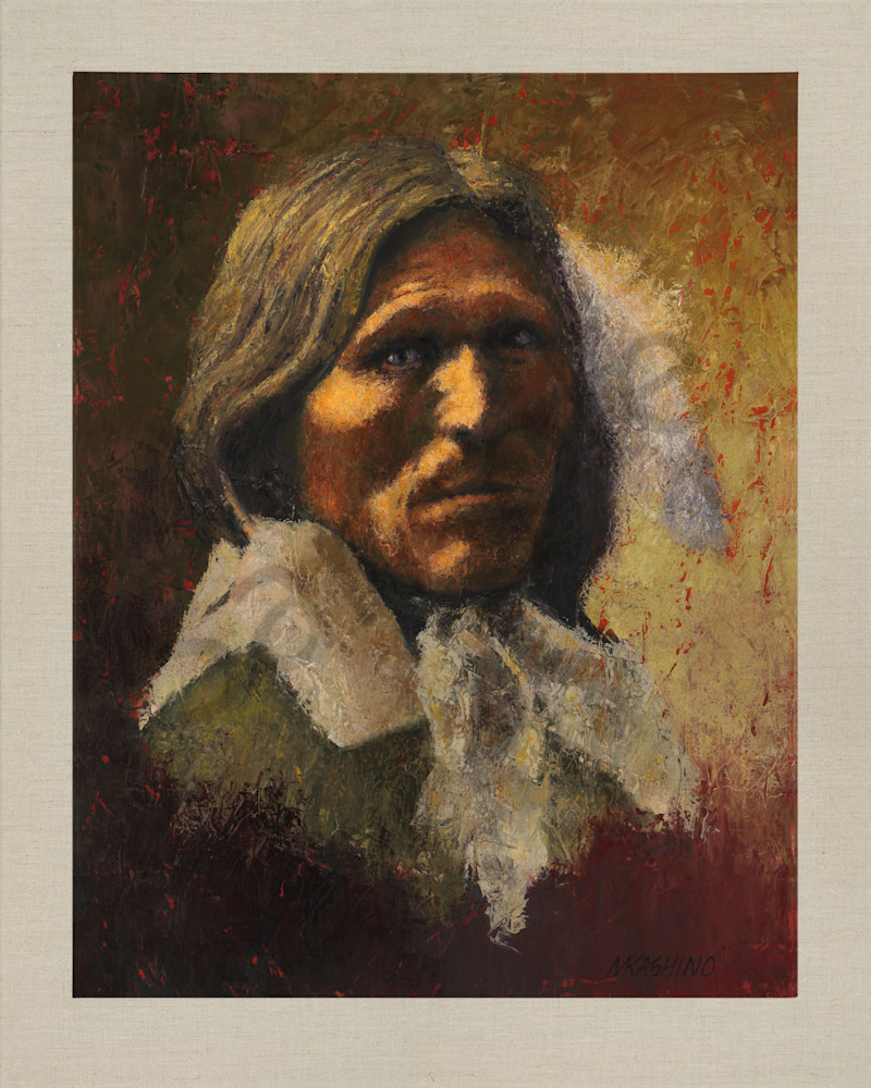 Goose Face, Oglala Lakota, Native Americans, American Indians, Portraits, Oil Paintings, Mark Kashino