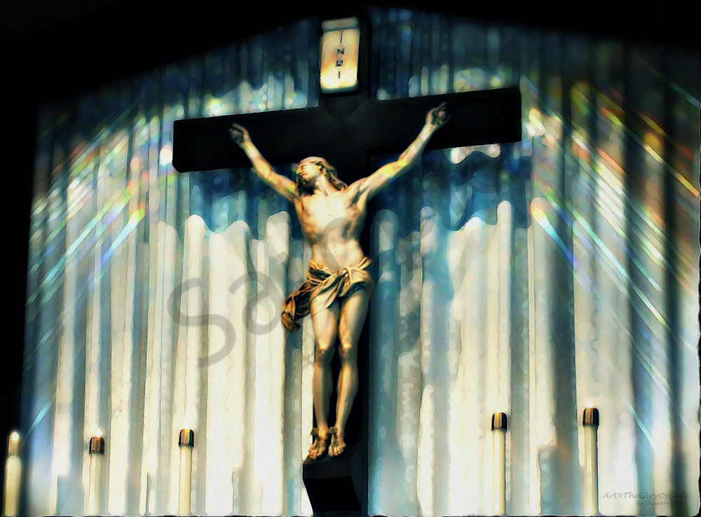 """Jesus I trust in you..."" - digital painting photograph"