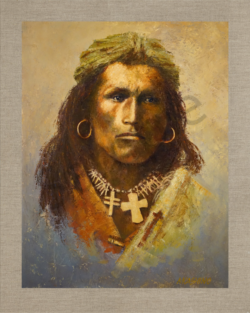 Tom Torlino Sioux, Native Americans, American Indians, Portraits, Oil Paintings, Mark Kashino