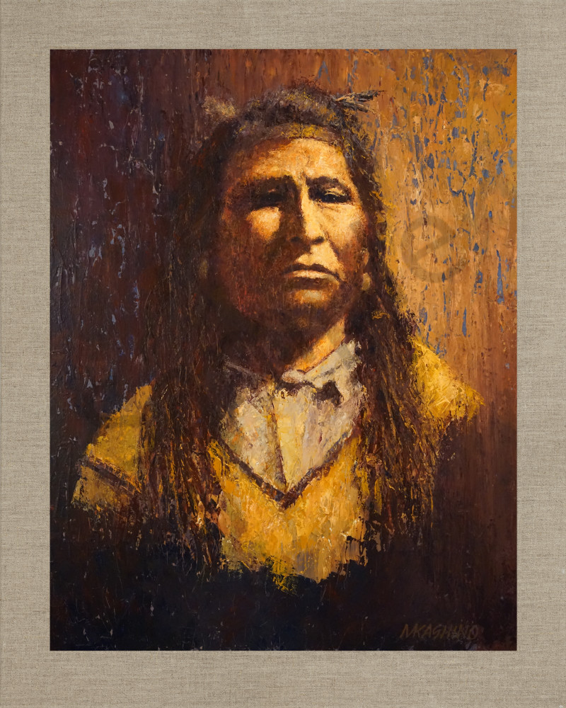 Native American Indian Portrait Blackfoot Photo Art Print Picture