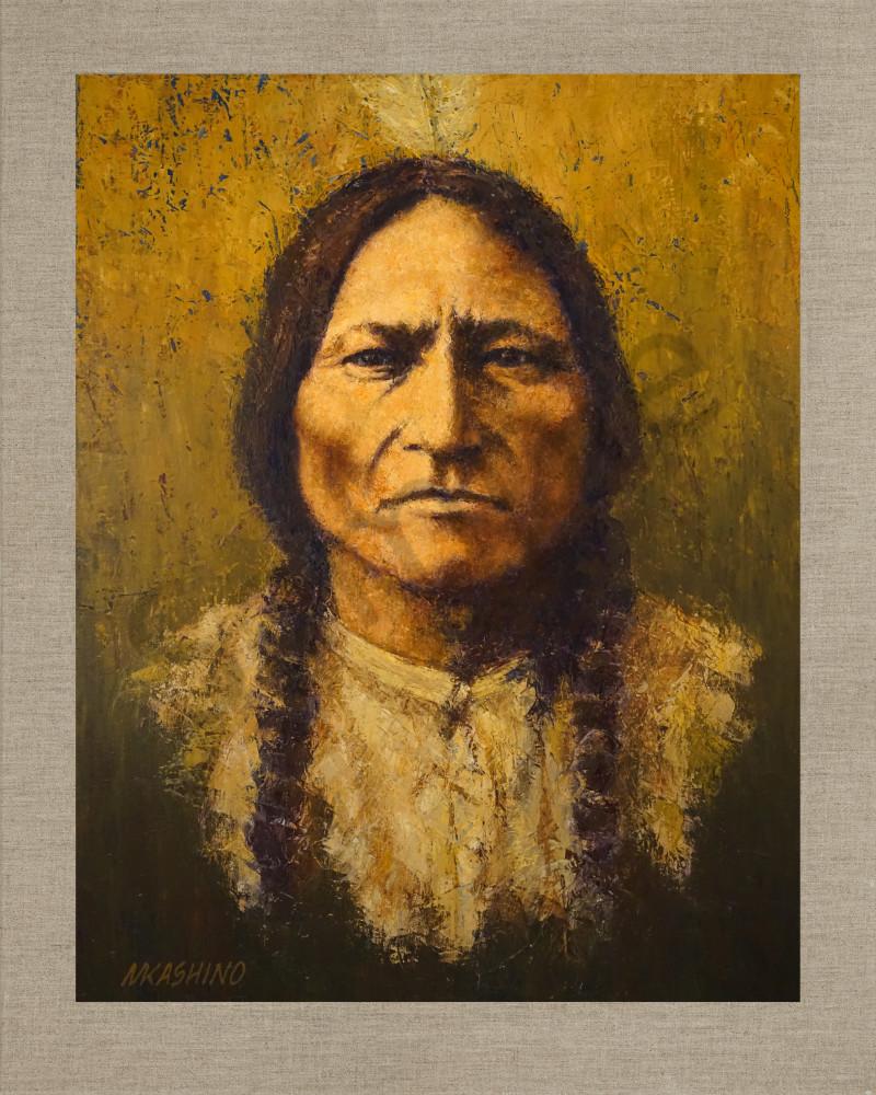 Sitting Bull Hunkpapa Lakota, Native Americans, American Indians, Portraits, Oil Paintings, Mark Kashino