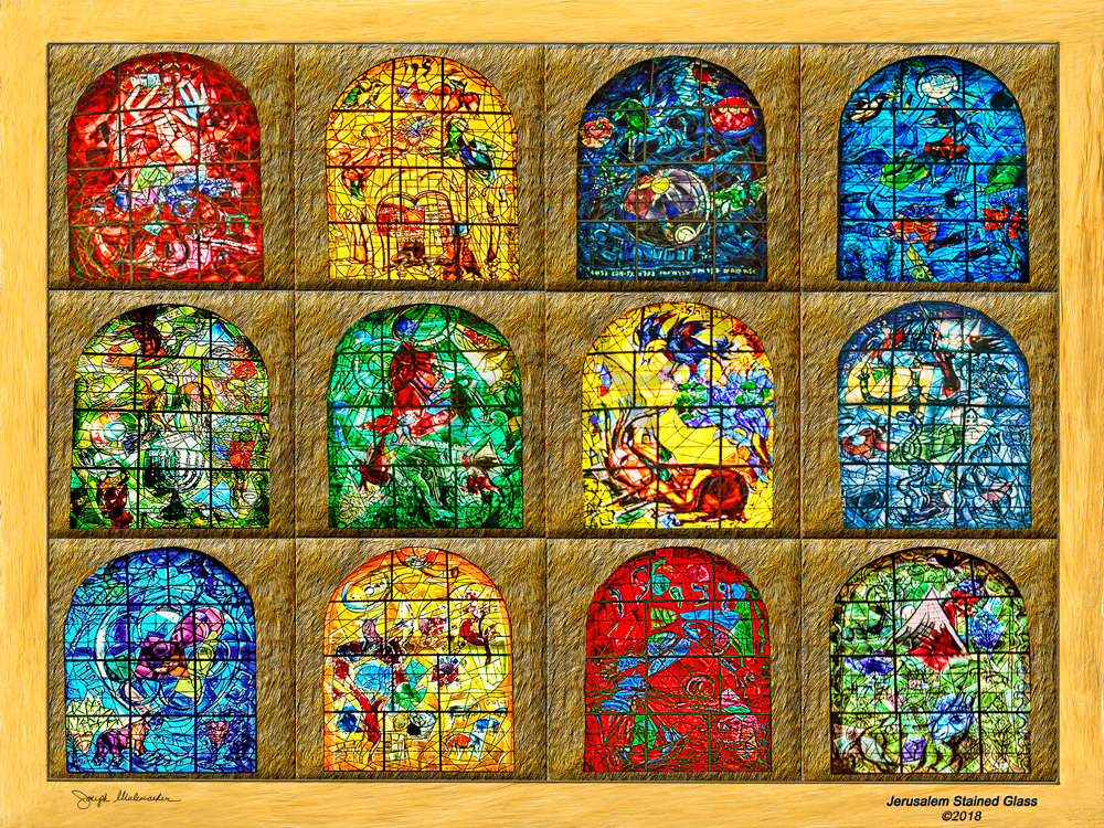 Marc Chagall Jerusalem Stained Glass Windows - The Gallery Wrap Store.