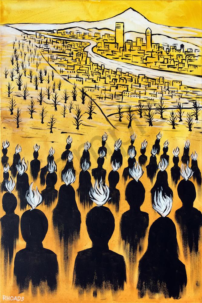 """Set Ablaze"" by Nathan Rhoads   Prophetics Gallery"