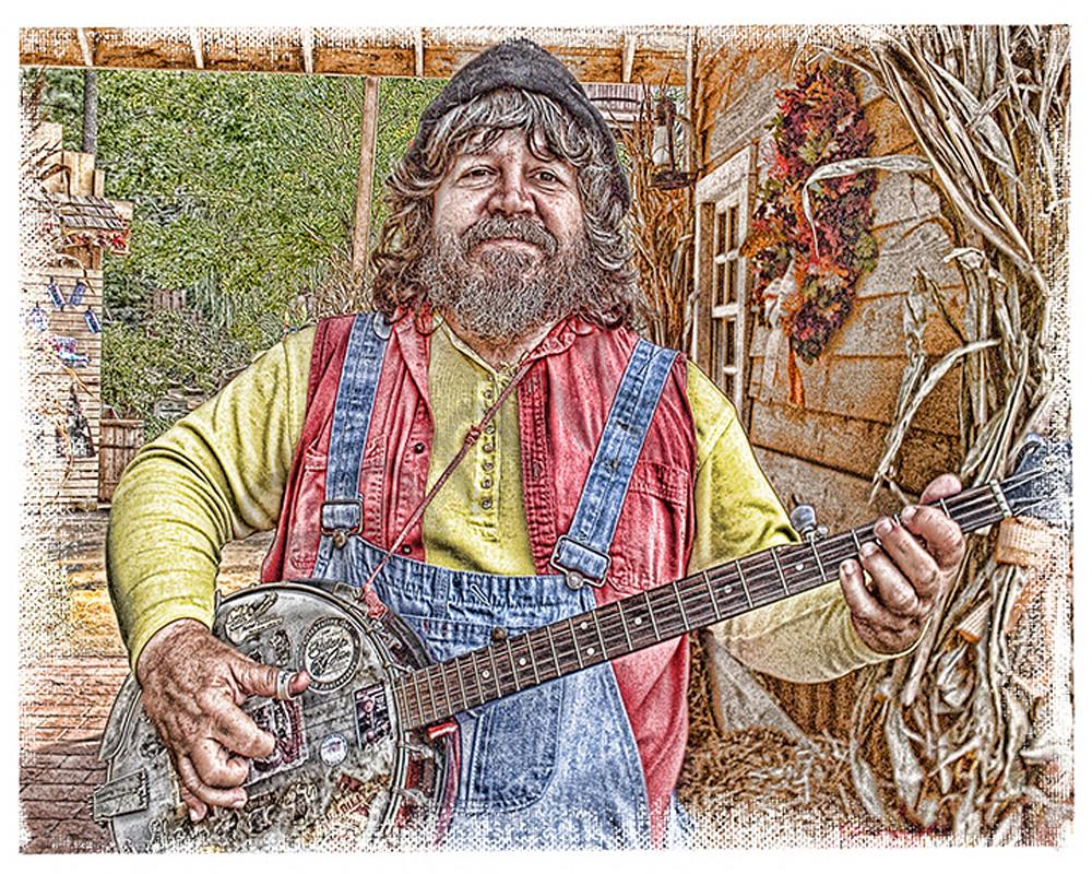 """Banjo Player"" Art | Digital Arts Studio / Fine Art Marketplace"