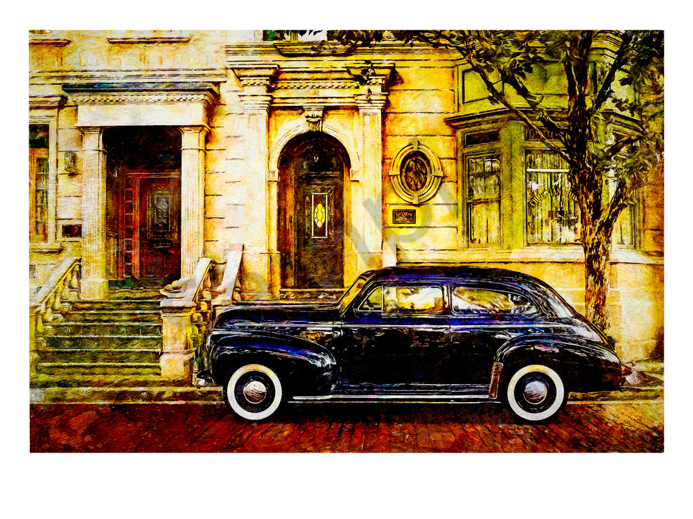 """Brooklyn Street Scene  1"" Art | Digital Arts Studio / Fine Art Marketplace"