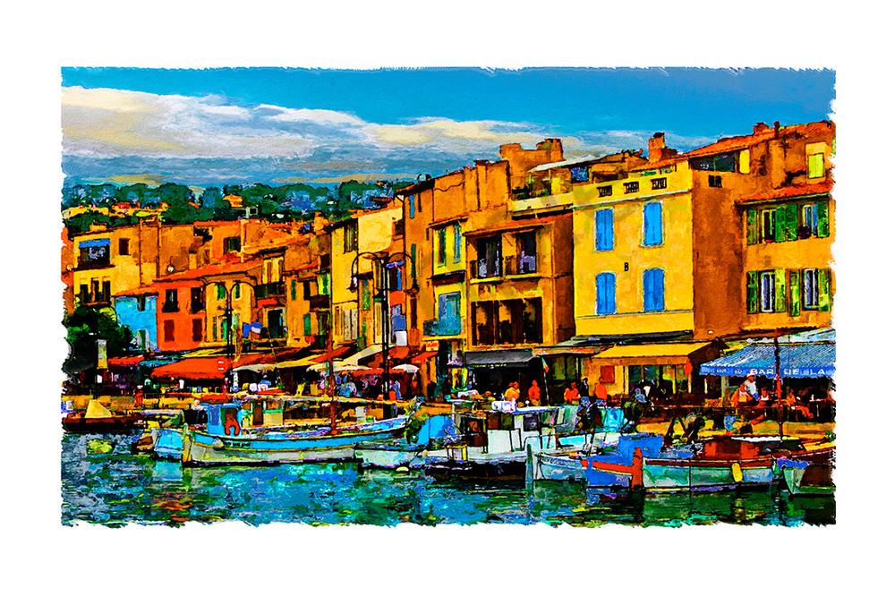 """French Harbour"" Art | Digital Arts Studio / Fine Art Marketplace"