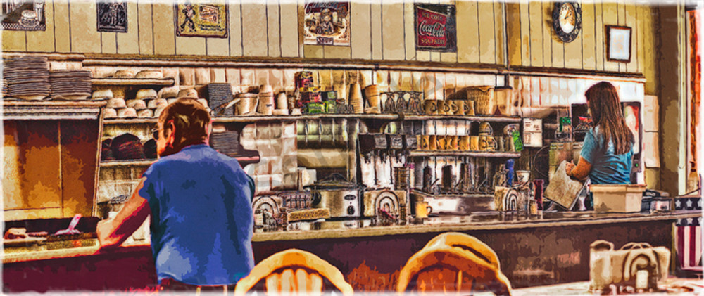 """The Greenback Diner"" Art 