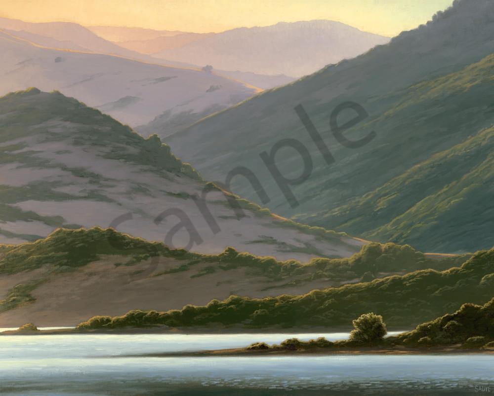 Lake And Hills At Dawn Art | Terry Sauve Fine Art