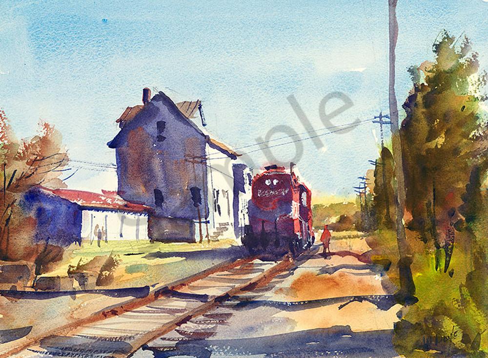 Plymouth train fine art print by Bill Doyle.