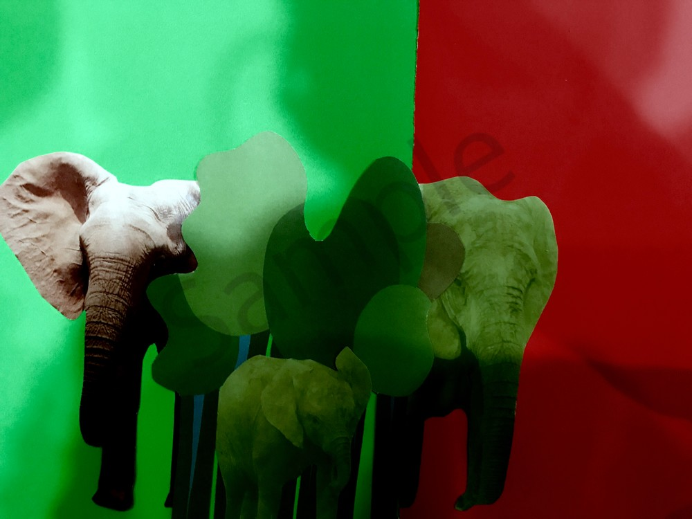 Odeta Xheka Visuals | Art for Kids featuring elephant herd