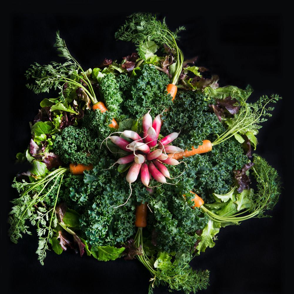 Radish, Carrots, Kale Mandala