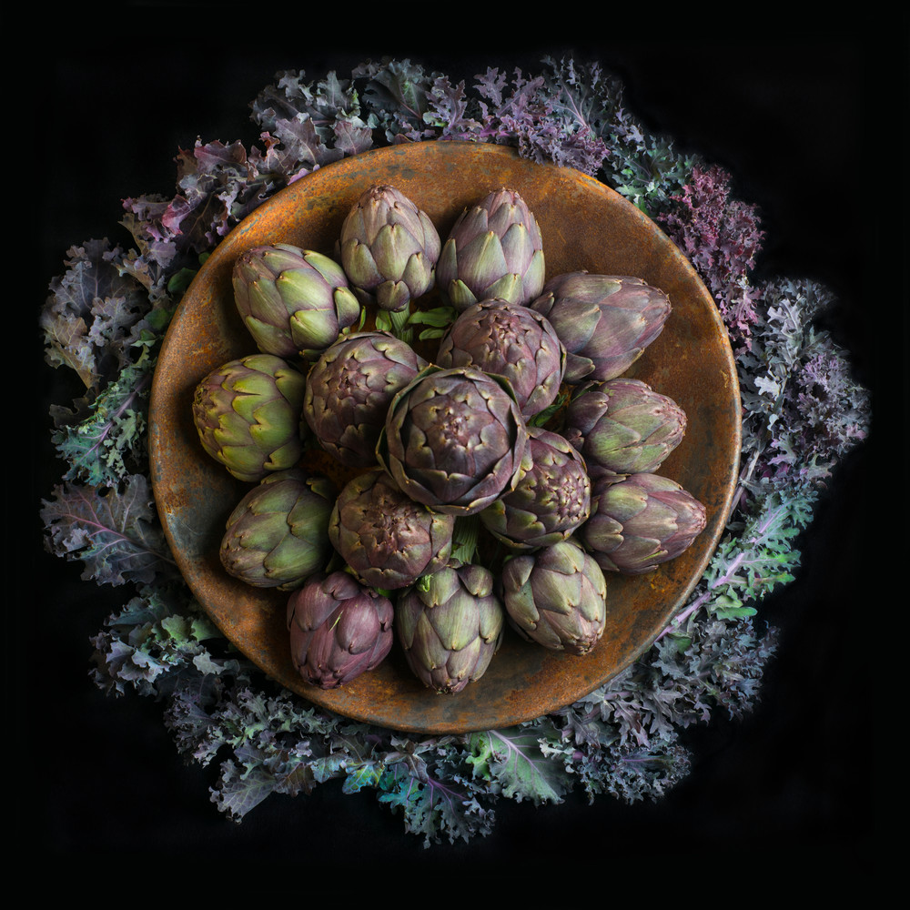 Artichokes and Kale Mandala
