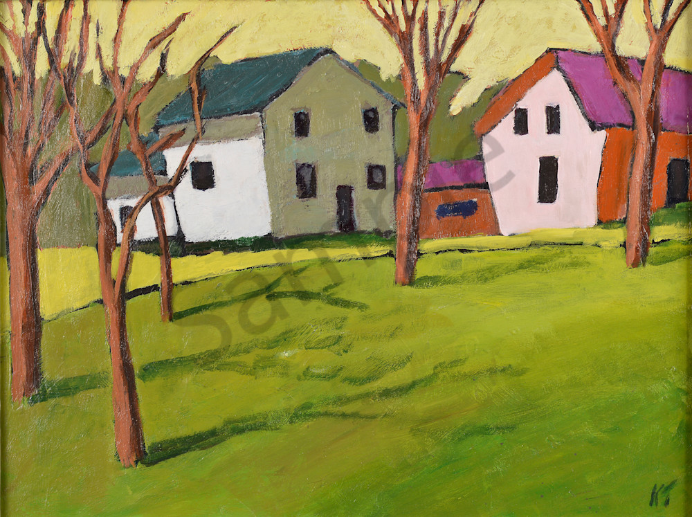 Houses Of A Different Colour Art | Keith Thirgood