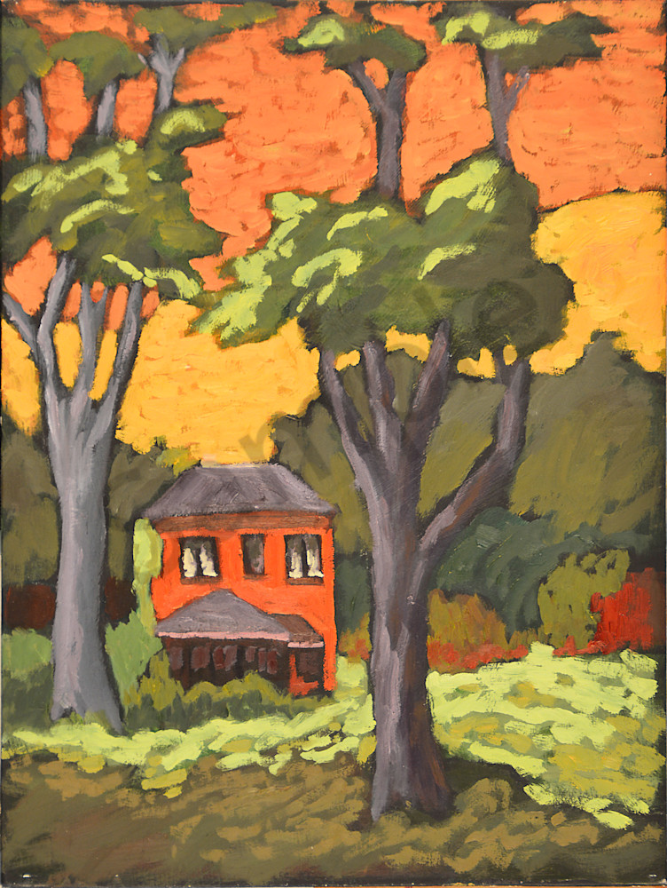 Lone House From The Park Art   Keith Thirgood