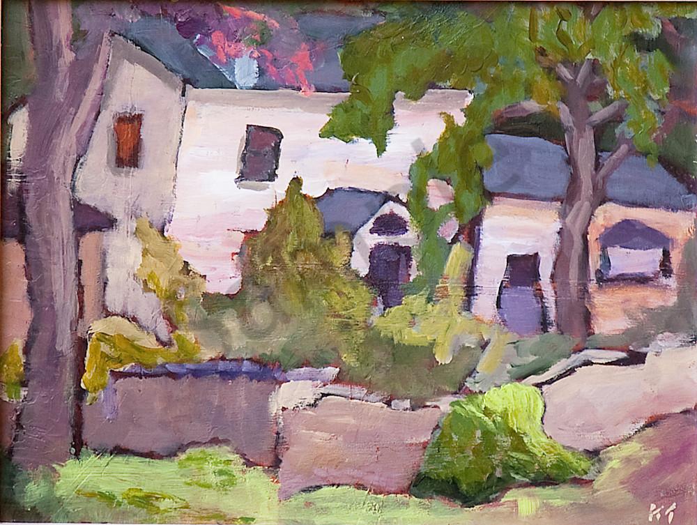House Behind Rock Wall Art | Keith Thirgood