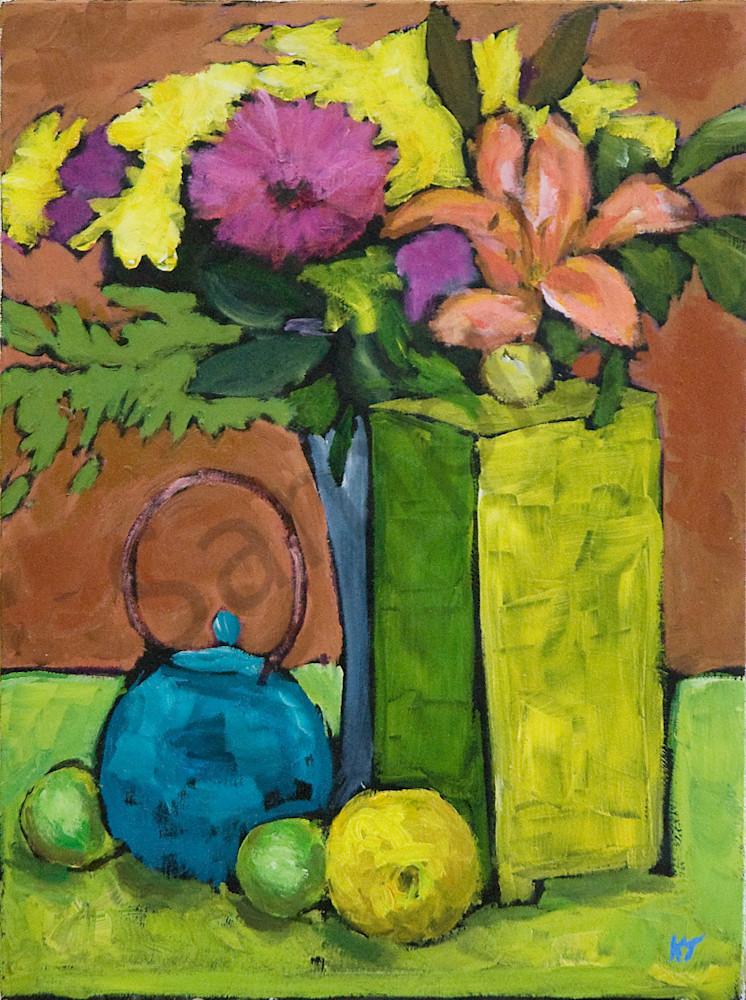 Green Box, Blue Teapot Art | Keith Thirgood