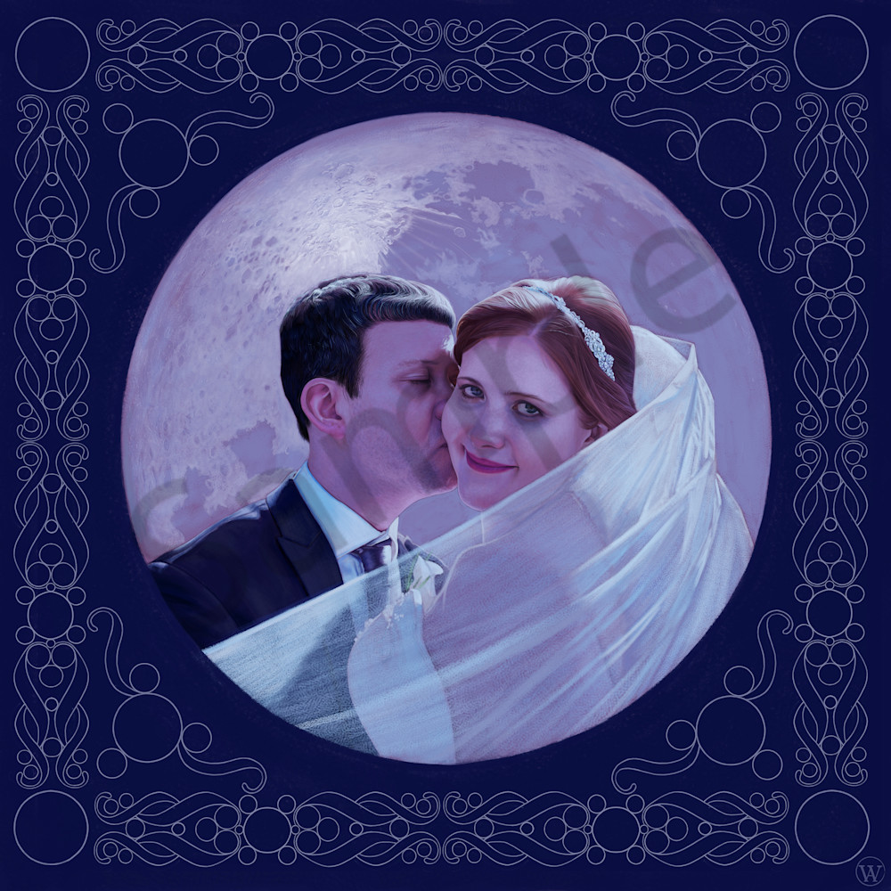 Mitchell Wedding Digital Painting