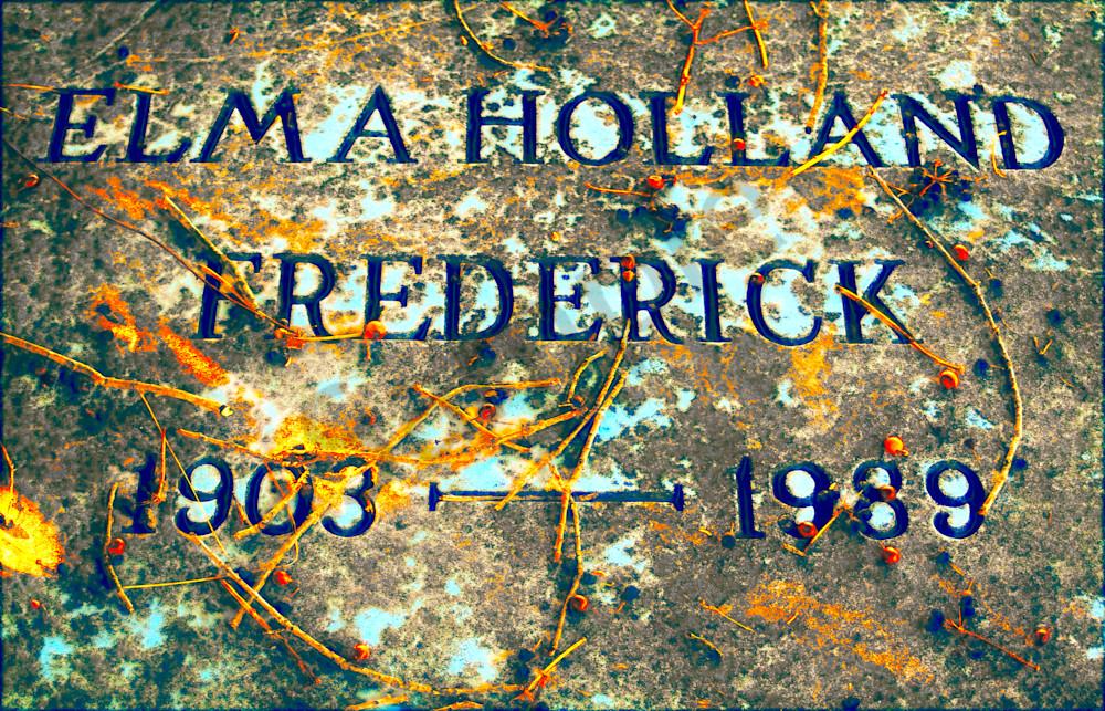 Elma Holland Frederick Gravestone  Art | toddbreitling