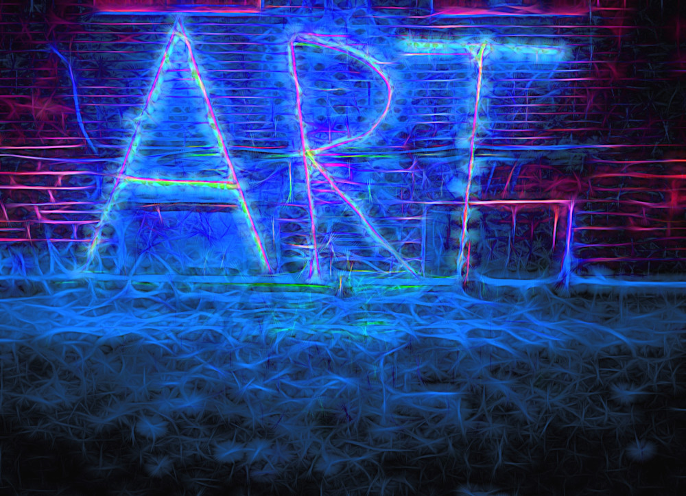 Art Sign at Night