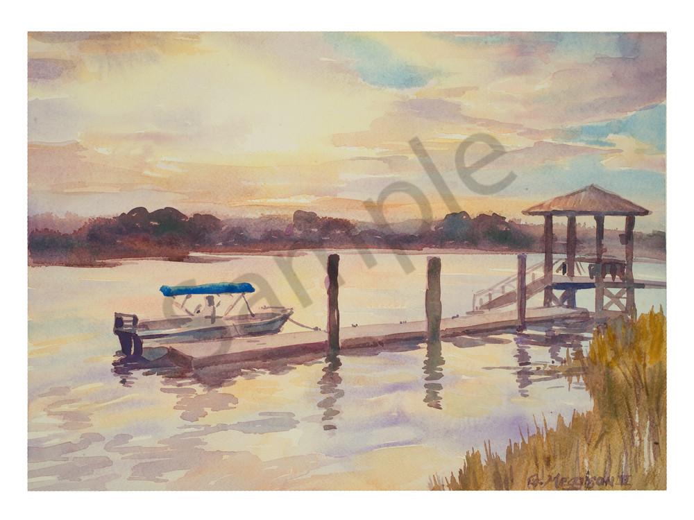 Matanzas Inlet Evening | Watercolor Landscapes | Gordon Meggison IV