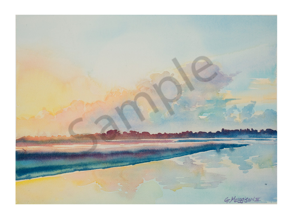 Sunrise at Ft. George Inlet | Watercolor Landscapes | Gordon Meggison IV