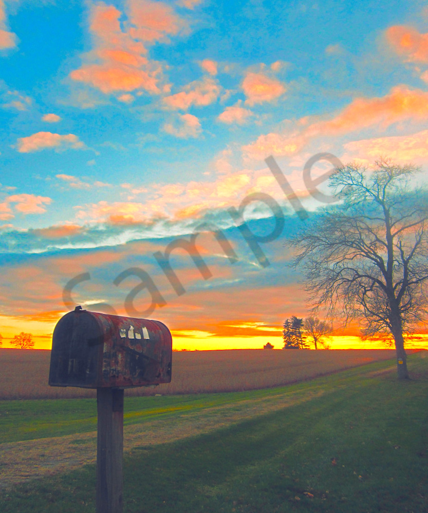 Old Mailbox and Sky|Fine Art Photography by Todd Breitling|Landscape Photography|Todd Breitling Art