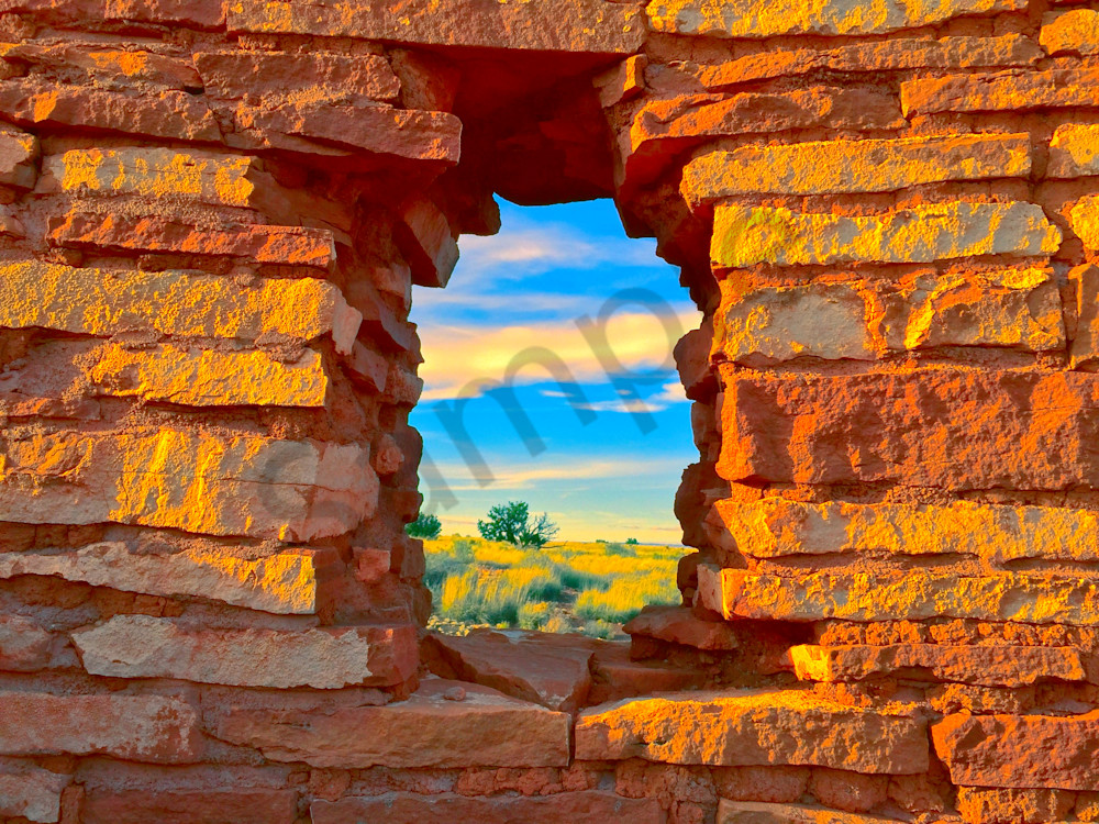 Wupatki Window Scene|Fine Art Photography by Todd Breitling|Landscape Photography|Todd Breitling Art|