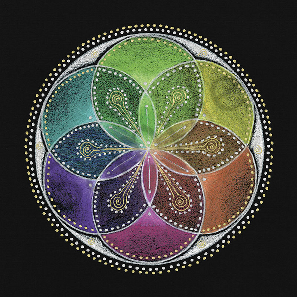 Seed of Life fine art print by Laural Virtues Wauters.