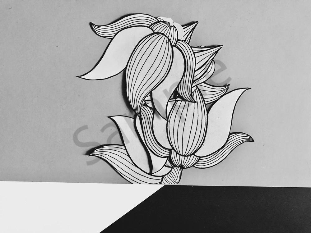 Odeta Xheka Visuals | Flower art print inspired by Georgia O'Keeffe