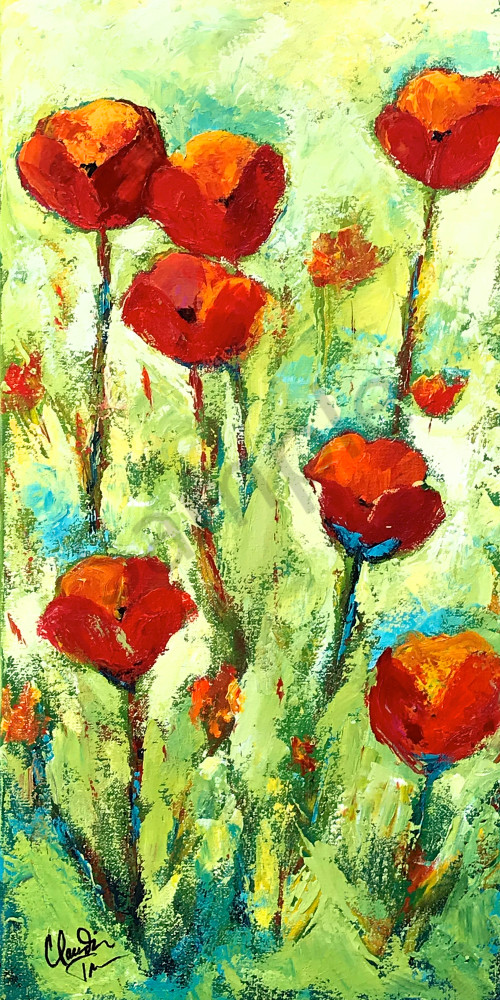 Tall Red Poppies