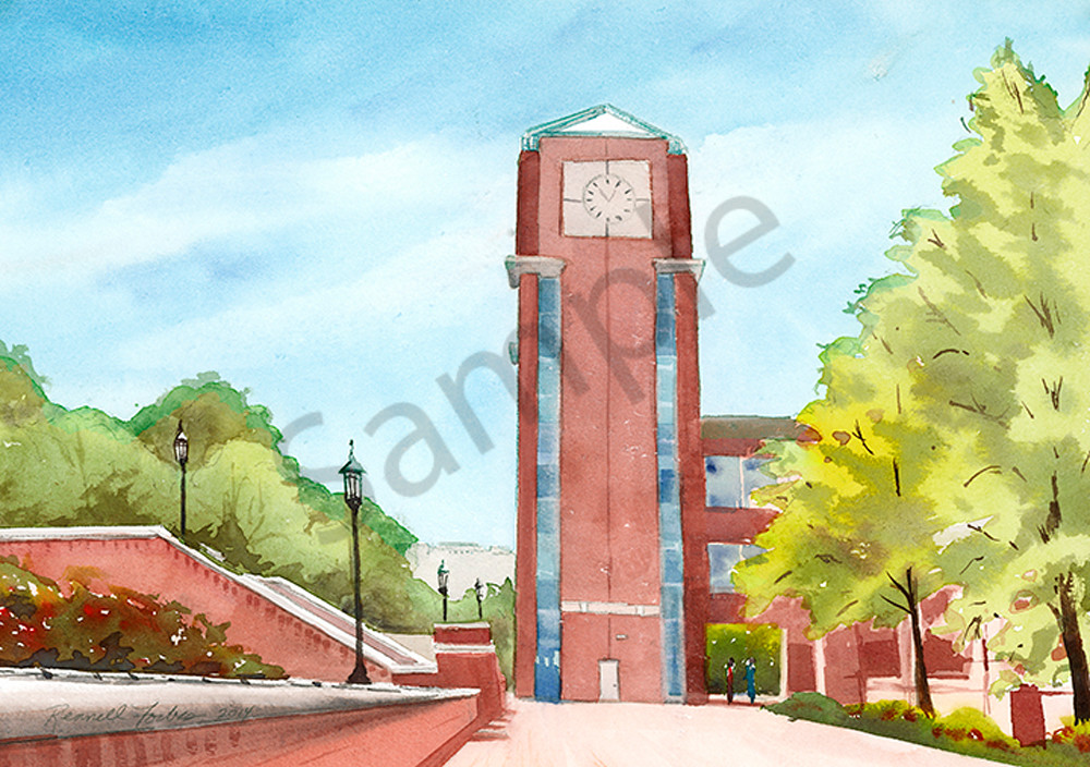 The UNC Charlotte Clock Tower
