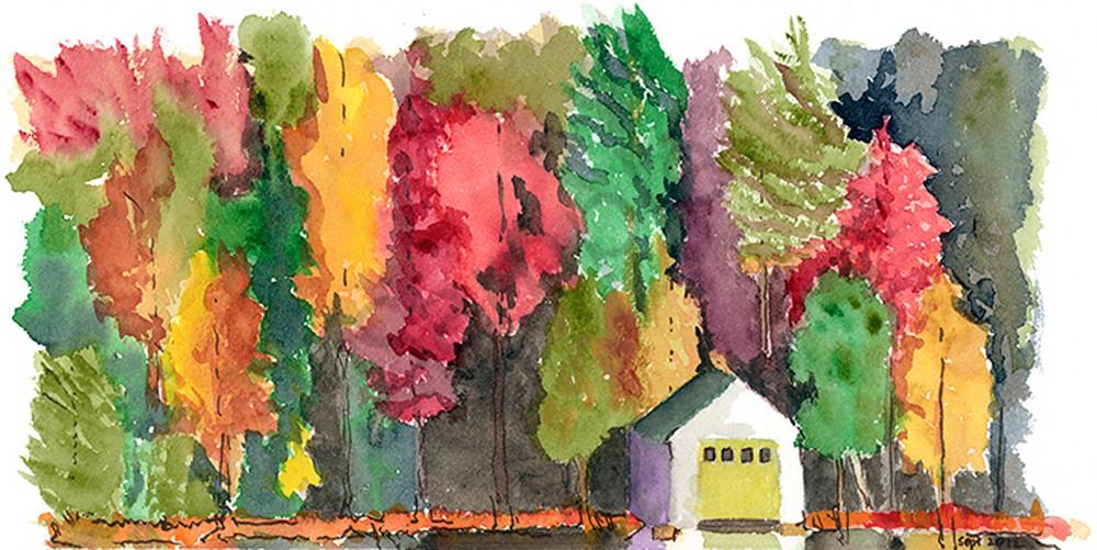 Boathouse in Fall