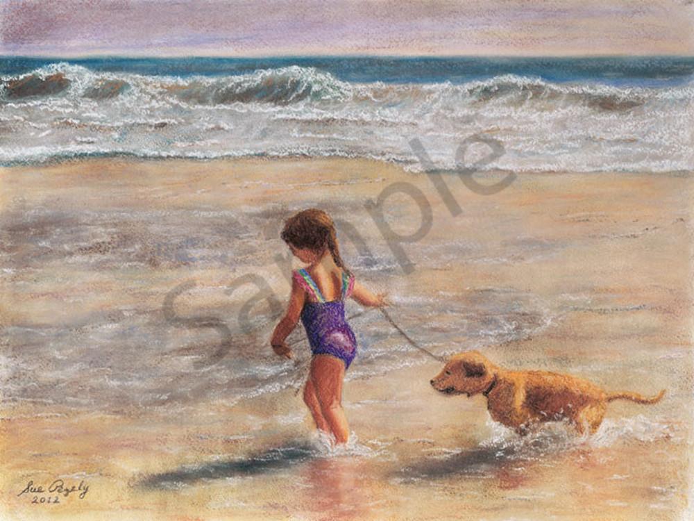 Best Friends At The Beach Art | Digital Arts Studio / Fine Art Marketplace