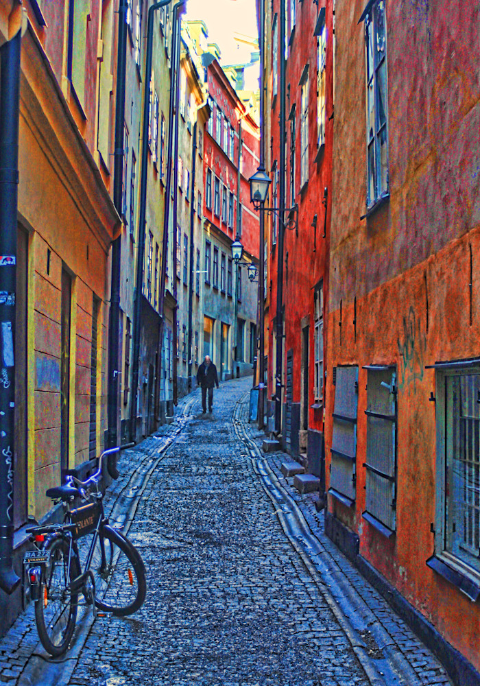 Bike and Walker|Stockholm, Sweden|Fine Art Photography by Todd Breitling|Graffiti and Street Photography|Todd Breitling Art
