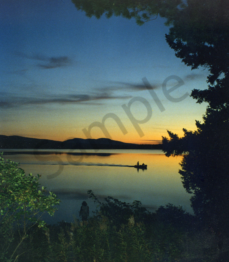 Sunset Long Pond Maine|Fine Art Photography by Todd Breitling|Landscape Photography|Todd Breitling Art|