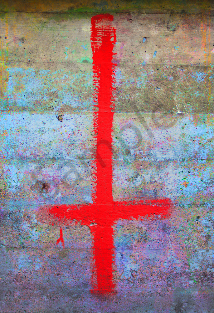 Cross To Bear Fine Art Photography by Todd Breitling Graffiti and Street Photography Todd Breitling Art