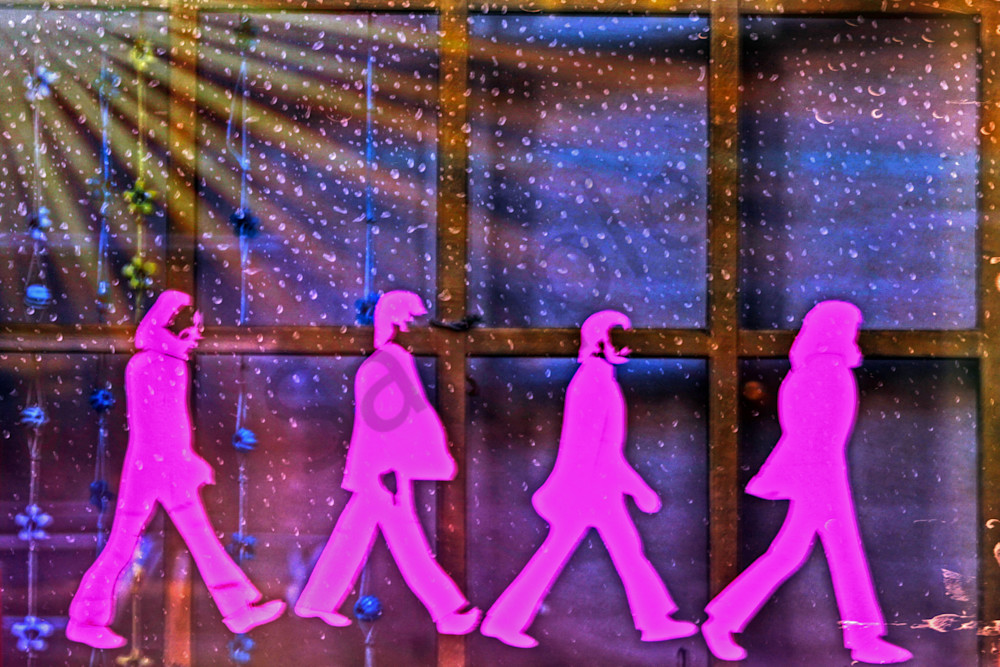The Beatles In The Window|Fine Art Photography by Todd Breitling|Graffiti and Street Photography|Todd Breitling Art