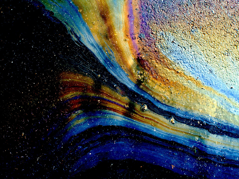 Oil On Pavement: Rings Of Saturn|Fine Art Photography by Todd Breitling|Oil On Pavement|Todd Breitling Art|