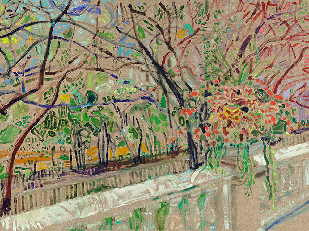 Art Institute Gardens, fine art print by Caley Buck.
