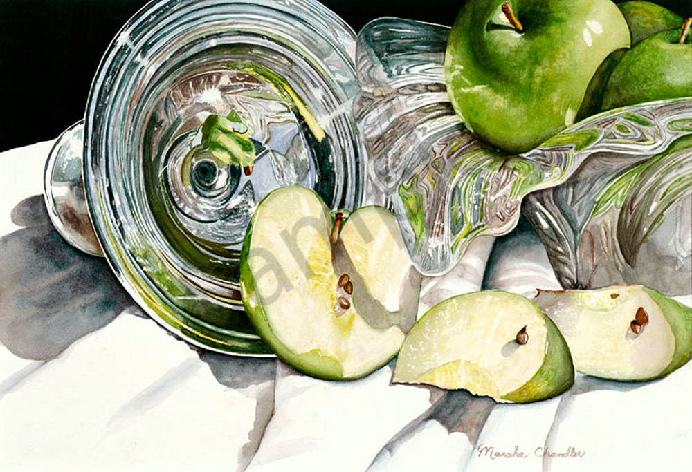 Green Apple Kaleidoscope Art | Digital Arts Studio / Fine Art Marketplace